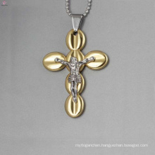 Fashion jesus cross pendants, gold cross pendants wholesale
