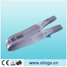 Flat Webbing Sling with 100%Polyester; Safety Factor Is 7: 1
