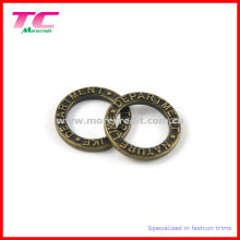 Embossed Logo Zinc Alloy Solid Round Ring, Belt Buckle