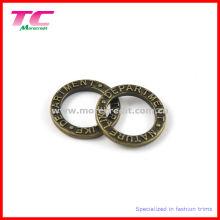 Тисненый логотип Цинковый сплав Твердое круглое кольцо, поясная пряжка