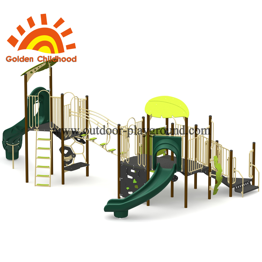 Green Outdoor Playground Equipment For Children