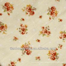 Cotton Flower Jacquard Dress Printed Fabric