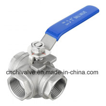 L Type Thread 3 Way Ball Valve