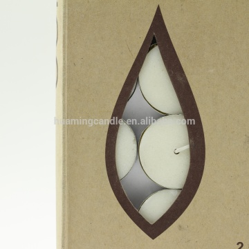 Candela Tealight colore bianco all'ingrosso