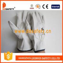 Guante de cuero de conductor de cabra (DLD522)