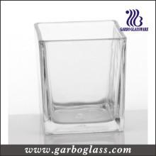 Bougeoir, vase à bougies, coupe de verre transparent (GB2250-3)