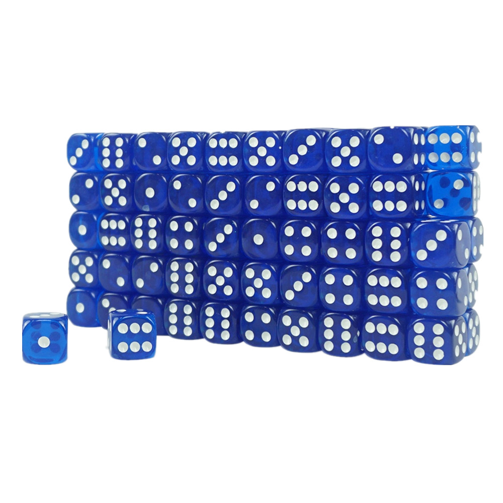 High Quality Acrylic Transparent Casino Dice Blue