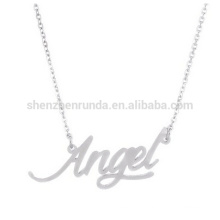 """""""angel"""" script pendant necklace for girls hot sales product"""