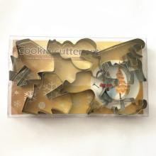 8pcs cortaron los sistemas baratos de los moldes de la galleta de la Navidad