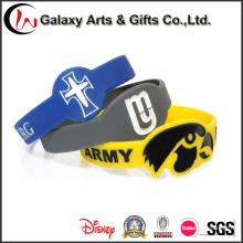 Großhandelsneues Produkt personifizierte dargestellte gedruckte Armband-Silikon-Dekoration