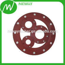 Red Color Custom Made Mold Silicone Gasket Flange