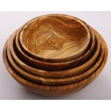 Набор из 5 салатников ручной работы из оливкового дерева