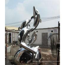 stainless steel garden sculpture dolphin outdoor statues