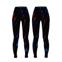 OEM novo design de impressão mulheres calças de compressão calças de yoga sublimação desgaste da aptidão