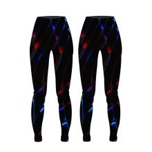 OEM новый дизайн полиграфии женщин сжатия брюки йога брюки сублимации спортивная одежда