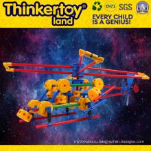 DIY пластиковые игрушки образования для детей пластиковые блоки ПВХ игрушки