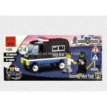 Polizei-Reihen-Entwerfer-Konvoi-LKW 87PCS Block-Spielwaren