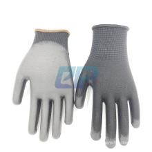 13 Gauge Polyester Liner Polyurethane/PU Coating PPE Gloves with EN388 3131X