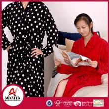 Pas cher prix belle à manches longues coton femmes éponge peignoir robe en gros