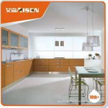 Verschiedene Modelle moderne Holzfurnier Porzellan Küchenschrank Fabrik