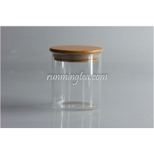 Bidon en bois Glass Jars Canister