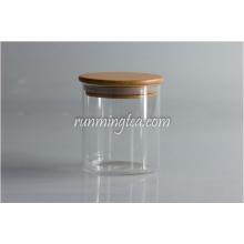 Wood Lid Glass Jars Canister