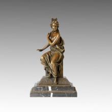 Figura clásica estatua desnuda señora escultura de bronce TPE-004