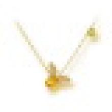 1.20CT Oval Cut Natürliche Citrin Peridot Bee Anhänger Halsketten 925 Sterling Silber für Frauen Engagement Edlen Schmuck