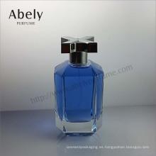 Botella de cristal de diseño único para perfume con precio de fábrica