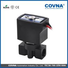 """G1 / 4 """"electroválvula de actuación directa NC válvula de plástico de 10 bar"""