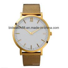 Fashion Custom Logo Watch Gold Wrist Watch Ladies
