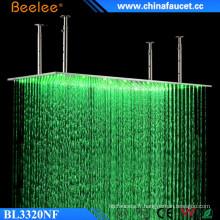 Beelee 20 '' grande pluie imperméable à l'eau de pluie de Rectangle de pluie de LED de cascade