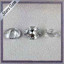 CZ brillante blanca de la forma oval de la venta caliente popular para la joyería