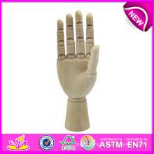 Best Selling Manikin Wood Hand, Flexible Wooden Manikin Hands for Sale, Manikin Flexible Wooden Mannequin Hand W06D042-B