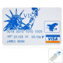 High Quality OEM Service 5PCS James Bond Credit Card Lock Pick Set for Locksmith / Learner / Hobbyist Locksmith tools