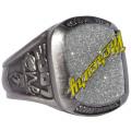 Custom 3D Luxus Design Meisterschaft Ring mit Glitzer