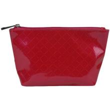 Waterproof Red PU Make up Bag for Cosmetics