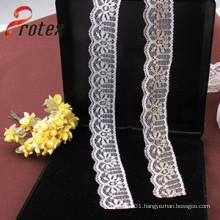 2 Cm White 100% Garment Cotton Lace