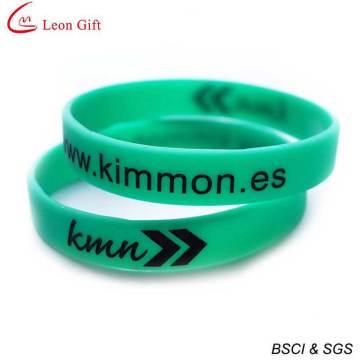 Wholesale Custom Logo Grow in Dark Silicone Bracelet (LM1639)