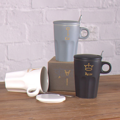 Matte effect coffee mug