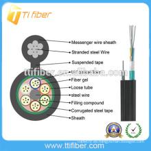 Cable al aire libre caliente de la fibra óptica del precio 12 del cable de la fibra del nuevo GYXTC8S