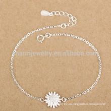 CYL005 925 joyería de plata, pulseras de la plata esterlina del 100% con encanto de los crisantemos, regalos de la Navidad de la novia