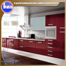 Armoires de cuisine en bois brillant (personnalisé)