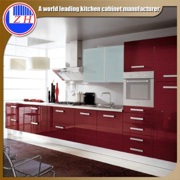 Glossy Wood Küchenschränke (kundenspezifisch)