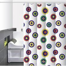 Waterproof Bathroom printed Shower Curtain O Rings
