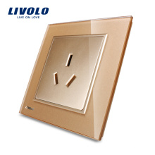 Livolo Электрическая розетка 3-контактная настенная розетка VL-W2C1B-13