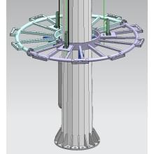 Iluminação alta do mastro de Dodecagon com a lâmpada do alogenuro de metal