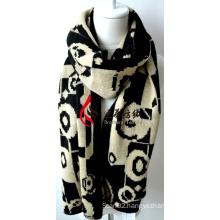 Acrylic Knitted Shawl (12-BR201812-19)