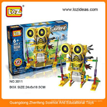 LOZ plastic electric block mechanical robot
