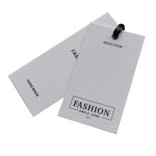 Wholesale Custom Card Paper Clothing Hangtags with Rope